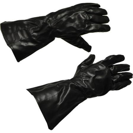 Morris Costumes Star Wars Darth Vader Gauntlet Faux Leather Black Gloves, Style RU1197 (Gaunlet Gloves)