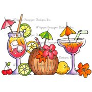 "Whipper Snapper Cling Stamp 4""X6""-Drink Me Pretty"