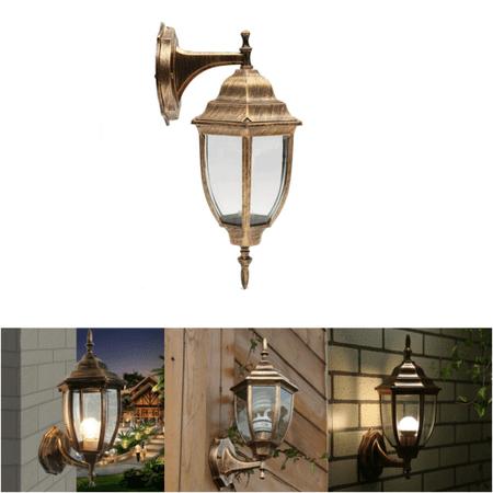 Outdoor Wall Light Exterior Bronze Fixture Lantern Glass Porch Lamp Sconce ()