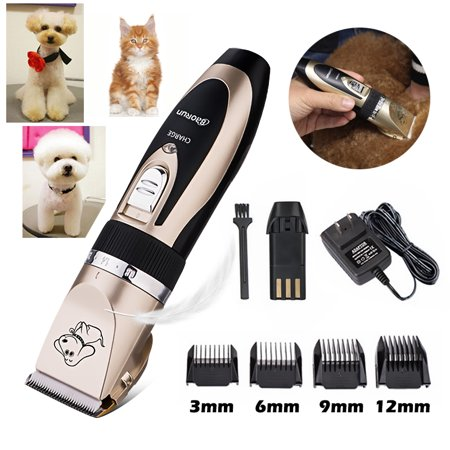 Professional Low Noise Grooming Kit Animal Pet Cat Dog Hair Cordless Trimmer Clipper Shaver