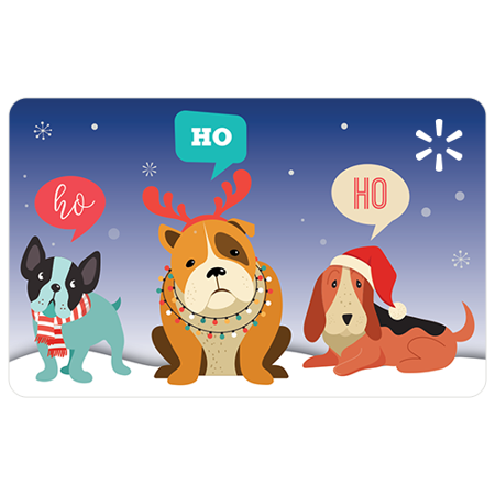 Puppies HoHoHo Walmart eGift Card