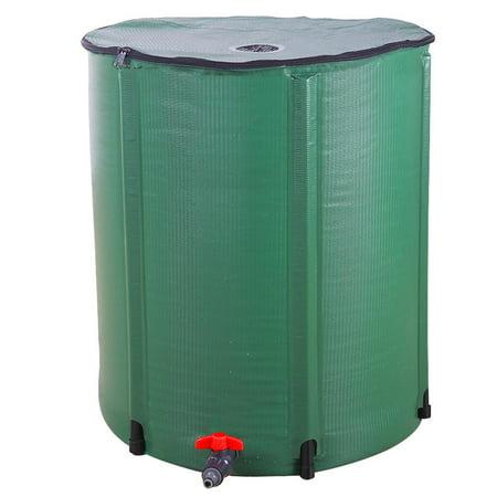 Zimtown 100 Gallon Portable Rain Barrel Farms Water Storage Saver for Patio