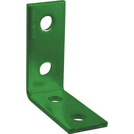 Four Hole Corner Angle Plate Green Set of 5