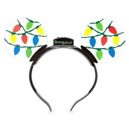 Disney Mouse Ears Headband (Disney Parks Mickey Mouse Ears Holiday Light-Up Headband)