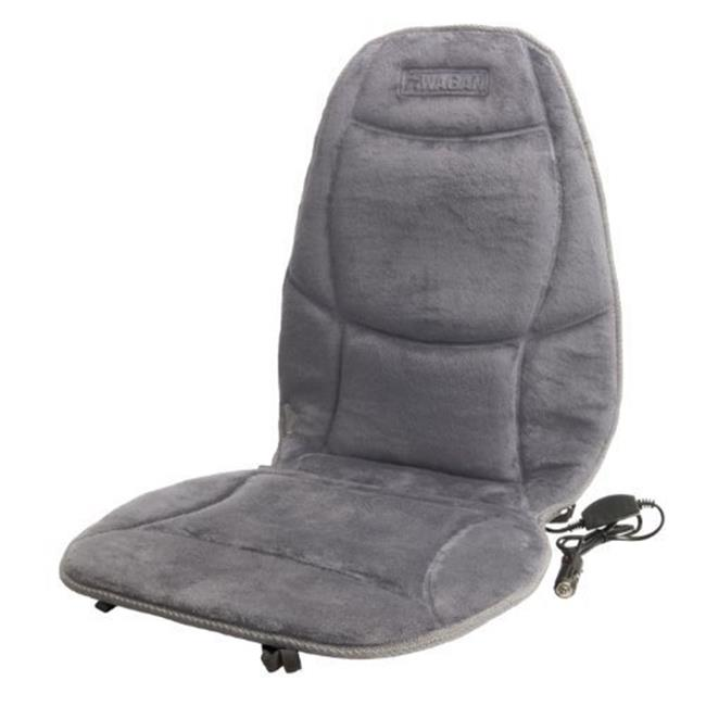 Stylish Soft Velour Heated Car Seat Cushion - Grey