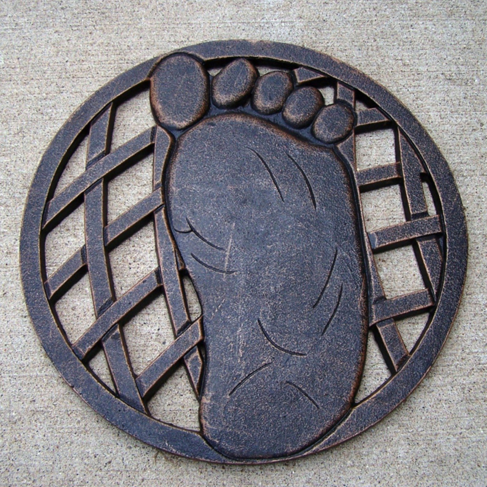 Oakland Living Stepping Stone Right Foot Cast Aluminum by Oakland Living