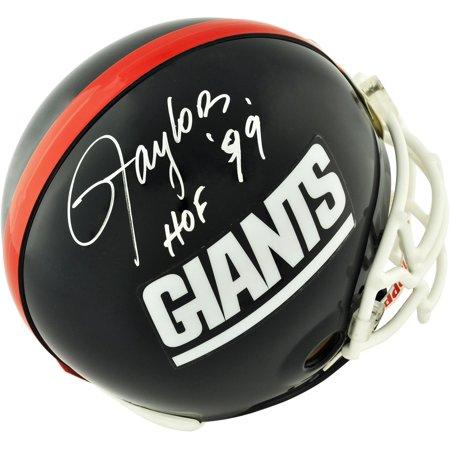 Autographed Giants Pro Line Helmet (Lawrence Taylor New York Giants Autographed Pro-Line Riddell Authentic Helmet with
