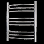 WarmlyYours TW-R09PS-HW-TI Towel Warmer Riviera Hard-wire 9-bar Polished Stainless