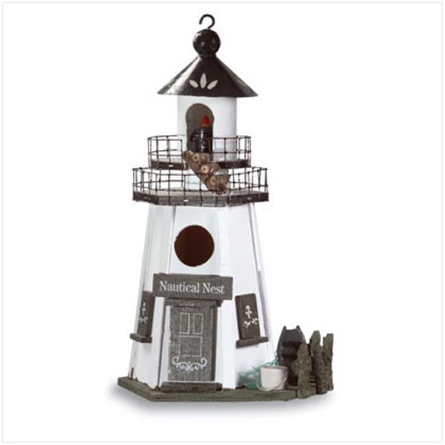 Zingz & Thingz 57070160 Wood Lighthouse Birdhouse by