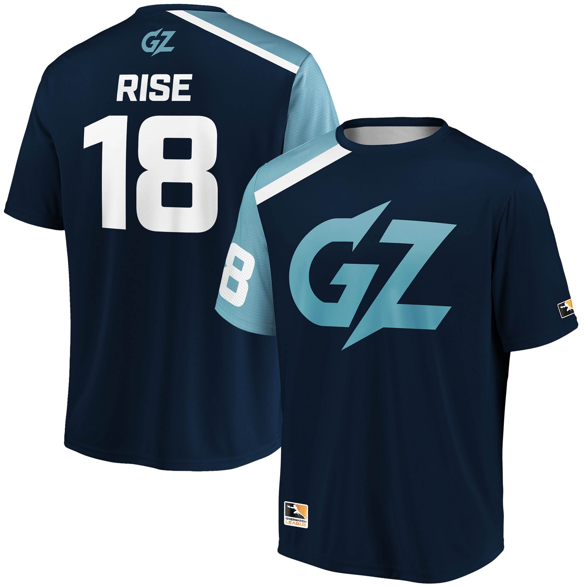 Rise Guangzhou Charge Overwatch League Replica Home Jersey - Navy