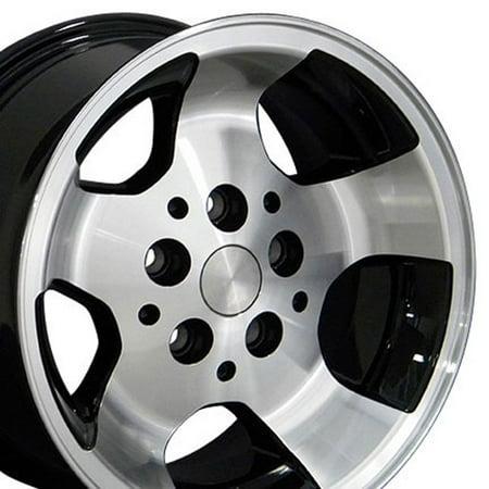 OE Wheels 15 Inch Wrangler Style | Fits Jeep Cherokee Wrangler | JP08 Gloss Black Machined 15x8 Rim Jeep Wrangler Distributor Rotor