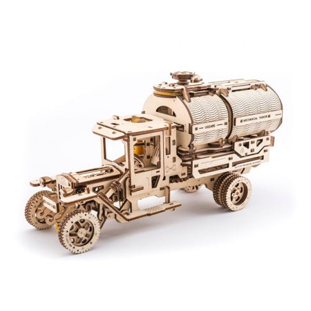 Tanker UGears 3D Wooden Unique Glue Free Eco Friendly Self Propelled Mechanical - Mechanical Module