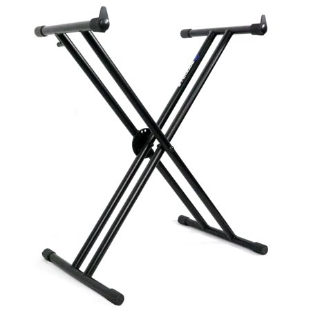 Rockville Double X Braced Keyboard Stand w Push Button Lock For Roland