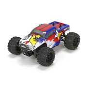 ECX 00013T2 1/24 Ruckus 4wd Monster Truck: Blue/White Ready-to-Run