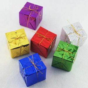 Fancyleo Christmas 12 Pcs Mini gift box Christmas tree New Year decoration decoration Christmas ornaments