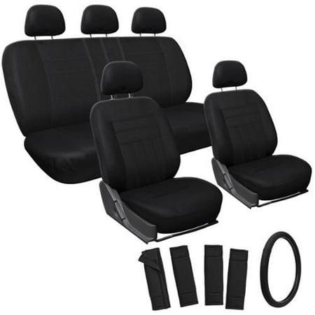 The Car Cover Oxgord Black 17 Piece Car Seat Cover