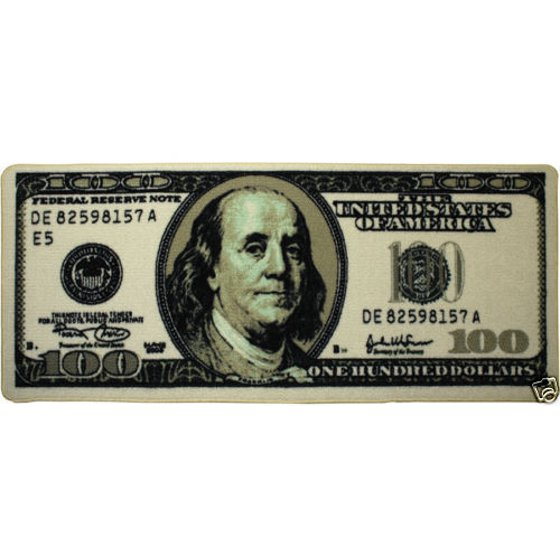 Big Money 100 Dollar Bill Area Rug Door Mat 22 Quot X 53