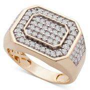 1Ct Men's Diamond Ring 10k Yellow Gold