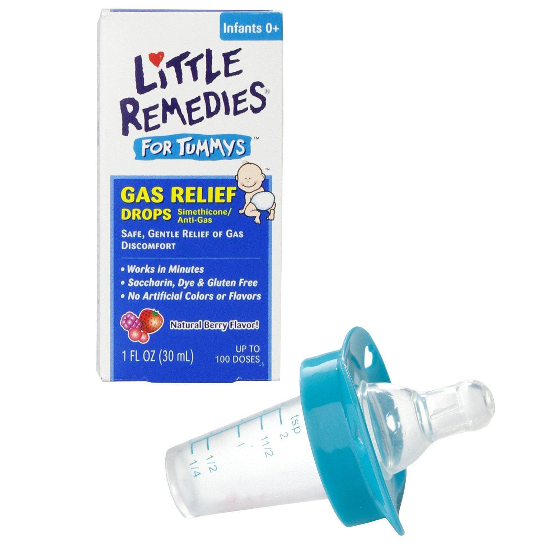 Little Remedies Little Tummys Gas Relief Drops with Pacifier Medicine Dispenser, Blue