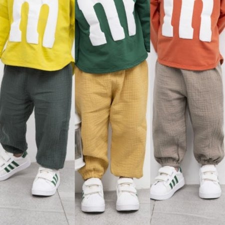Fashion Kids Baby Boys Girls Wrinkled Cotton Vintage Bloomers Bottoms Pants Trousers New ()