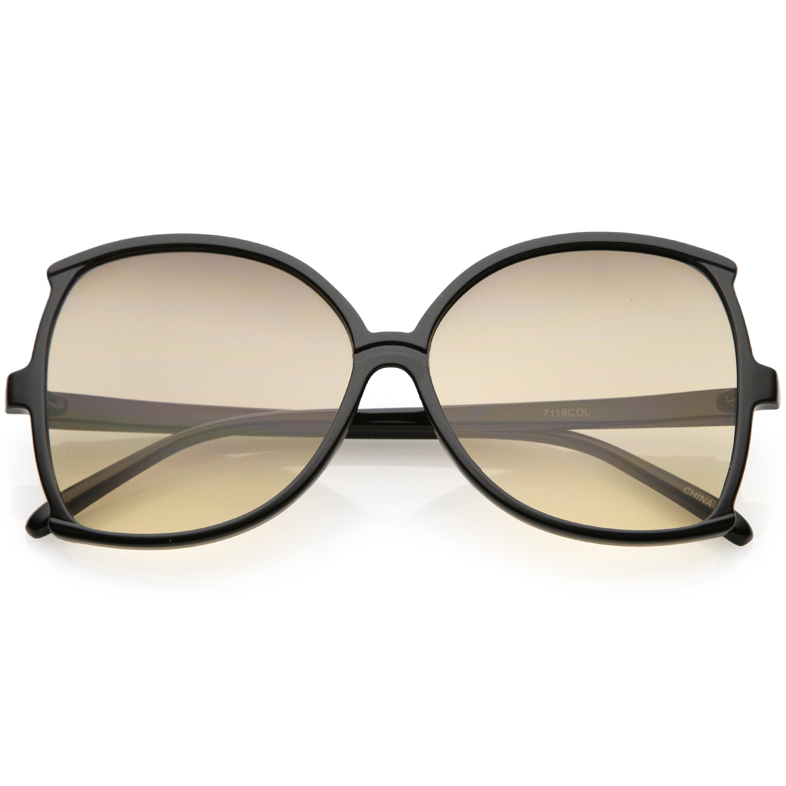 sunglassLA - Women's Oversize Butterfly Sunglasses Slim Arms Color Tinted Lens 61mm - 61mm