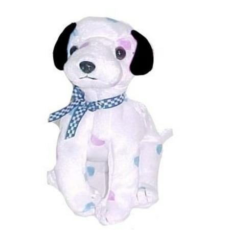 TY Beanie Baby - DIZZY the Dalmatian (colored spots & black ears) - Baby Dalmatian