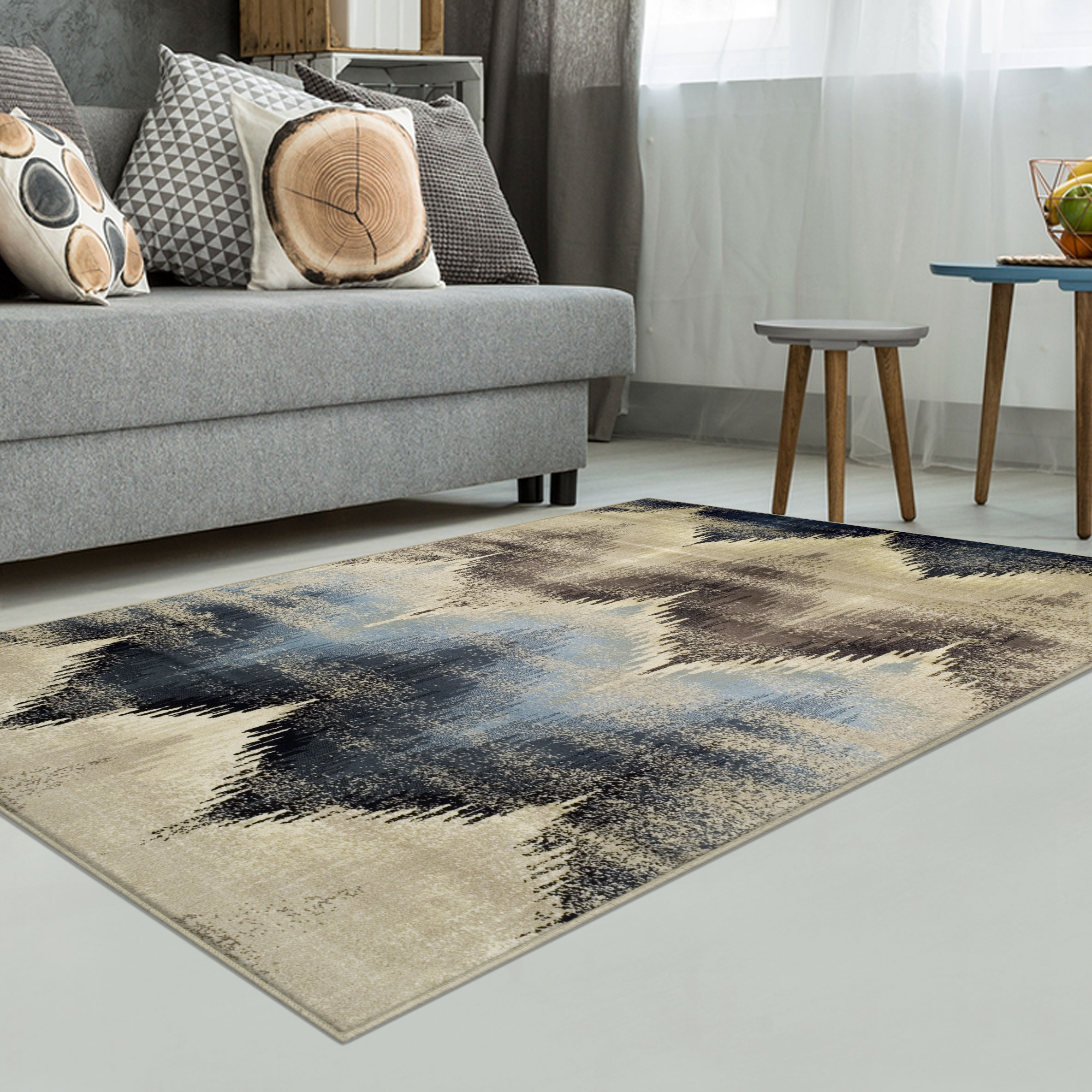 Superior Cadwell Collection with 10mm Pile and Jute Backing, Moisture Resistant and Anti-Static Indoor Area Rug