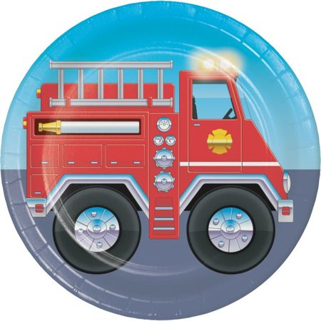 Party Creations Firefighter Lunch Plate, 7