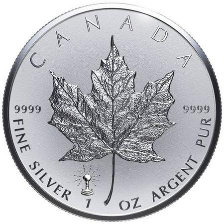 Sliver Leaf (2018 Canadian Silver Maple Leaf 1 oz Silver Coin - Thomas Edison Light Bulb Privy)