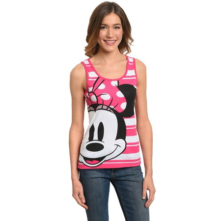Juniors Minnie Mouse Tank Top Pink - Minnie Mouse Tank Top