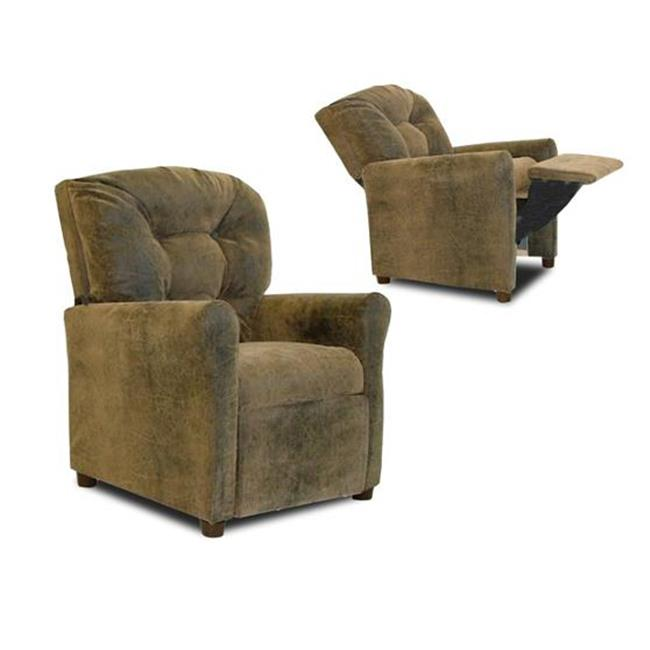 Dozydotes 10148 Child Recliner - 4 Button Brown Bomber