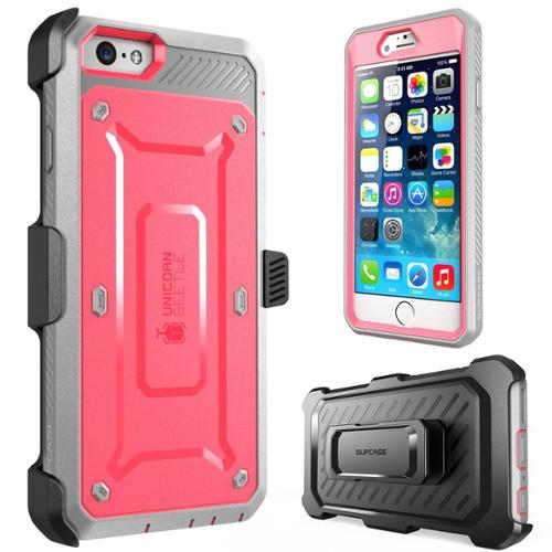 newest 341a9 fe595 SUPCASE-Apple iPhone 6 Plus-Unicorn Beetle Pro with Built-in Screen-Pink  Gray