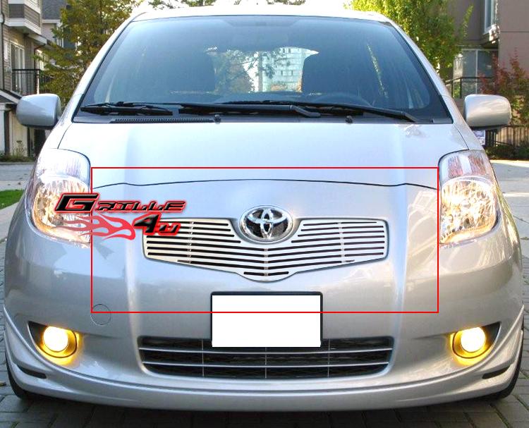 Fits 06-08 Toyota Yaris Bumper Billet Grille Insert