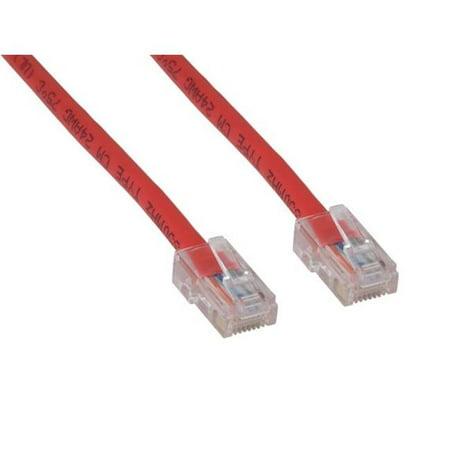 Cable Leader C5102-7014 14 ft. Cat5e 350 MHz UTP Assembled Patch Cable, Red Assembled Red Patch Cable