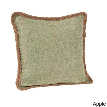 Jute Throw Pillow : Saro Jute Braid 18-inch Throw Pillow - Walmart.com