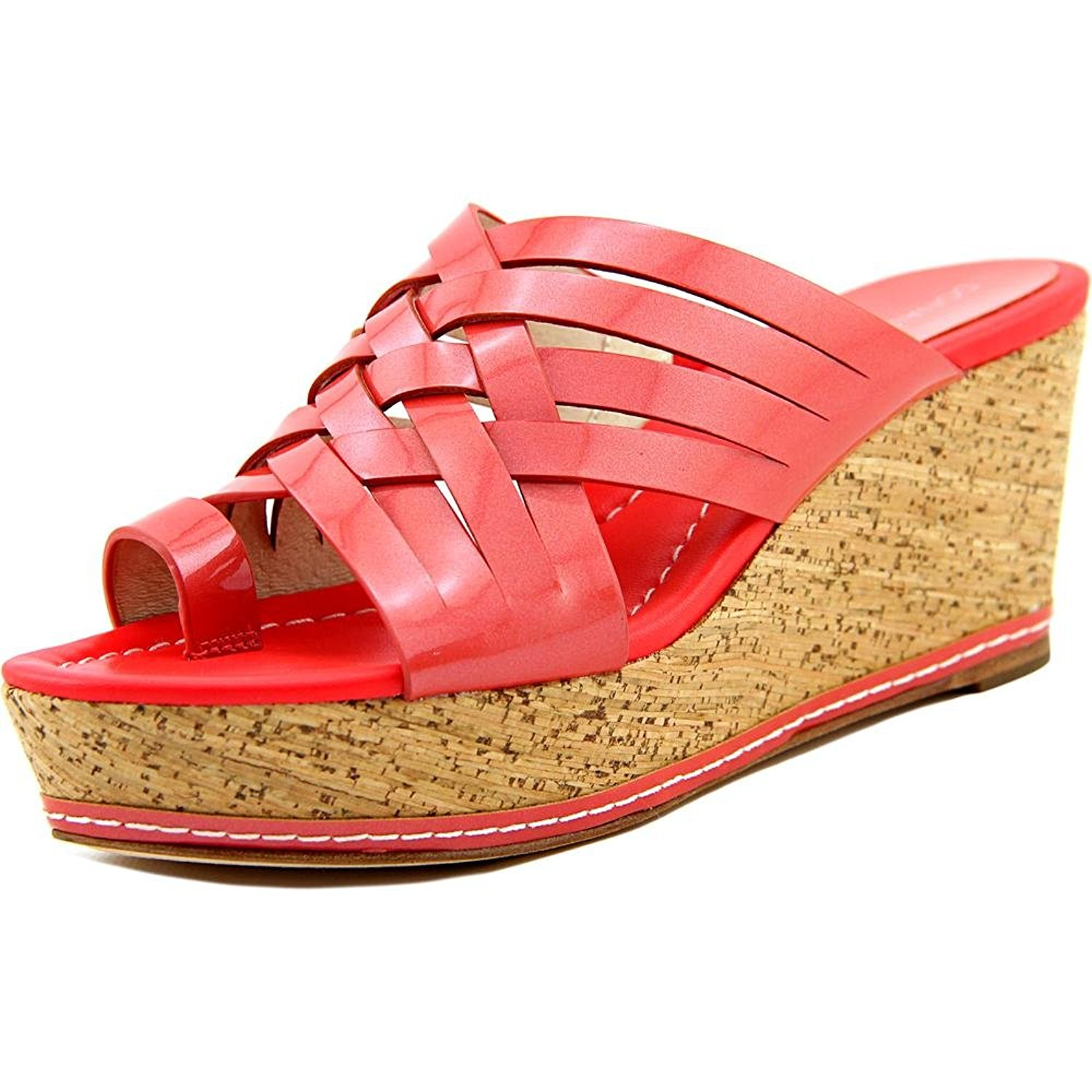 Donald J Pliner Flore Open Toe Patent Leather Wedge Sandal by Donald J Pliner