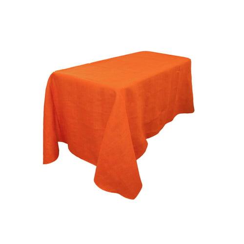 LA Linen Rectangular Dyed Burlap Tablecloth by LA Linen