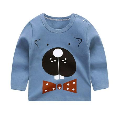 Children Clothing Boy Girl Shirt Korean Baby T Shirt Cotton Top Colorblock Walmart Canada