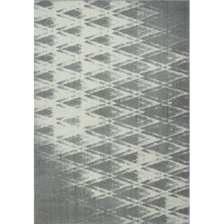 Ladole Rugs Stylish Modern Abstract Burnaby Contemparory Elegent Soft Shag Shaggy Grey Area Rug Carpet 7x10 (6'5