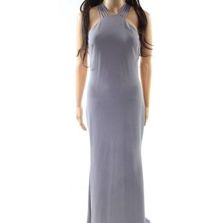 77271a2ea2ee8 Calvin Klein Halter Strappy Women's Crepe Gown - Walmart.com
