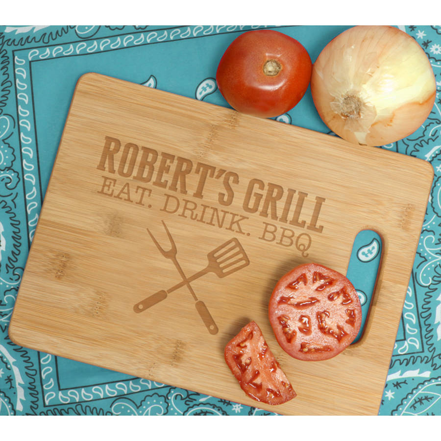 Personalized Bamboo Rectangle Cutting Board, Large