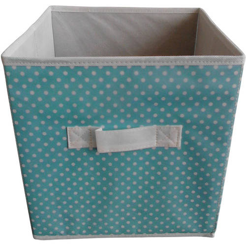 """Mainstays Collapsible Fabric Storage Cube, Set of 2 , Multiple Colors (10.5"""" x 10.5"""")"""