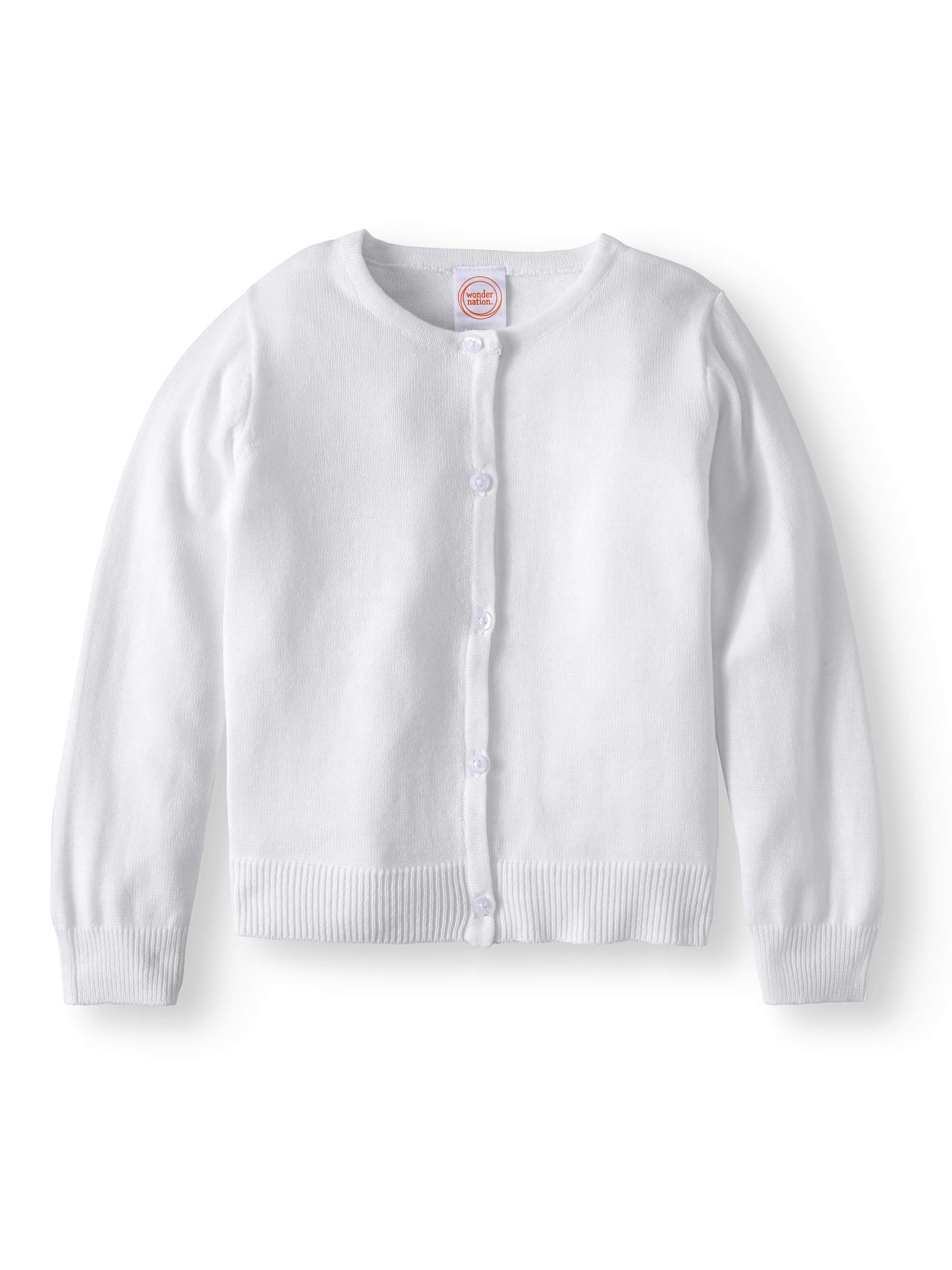 Toddler Girls School Uniform Knit Cardigan