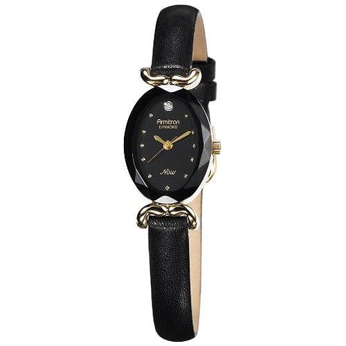 Armitron Women's Black Oval Dress Watch