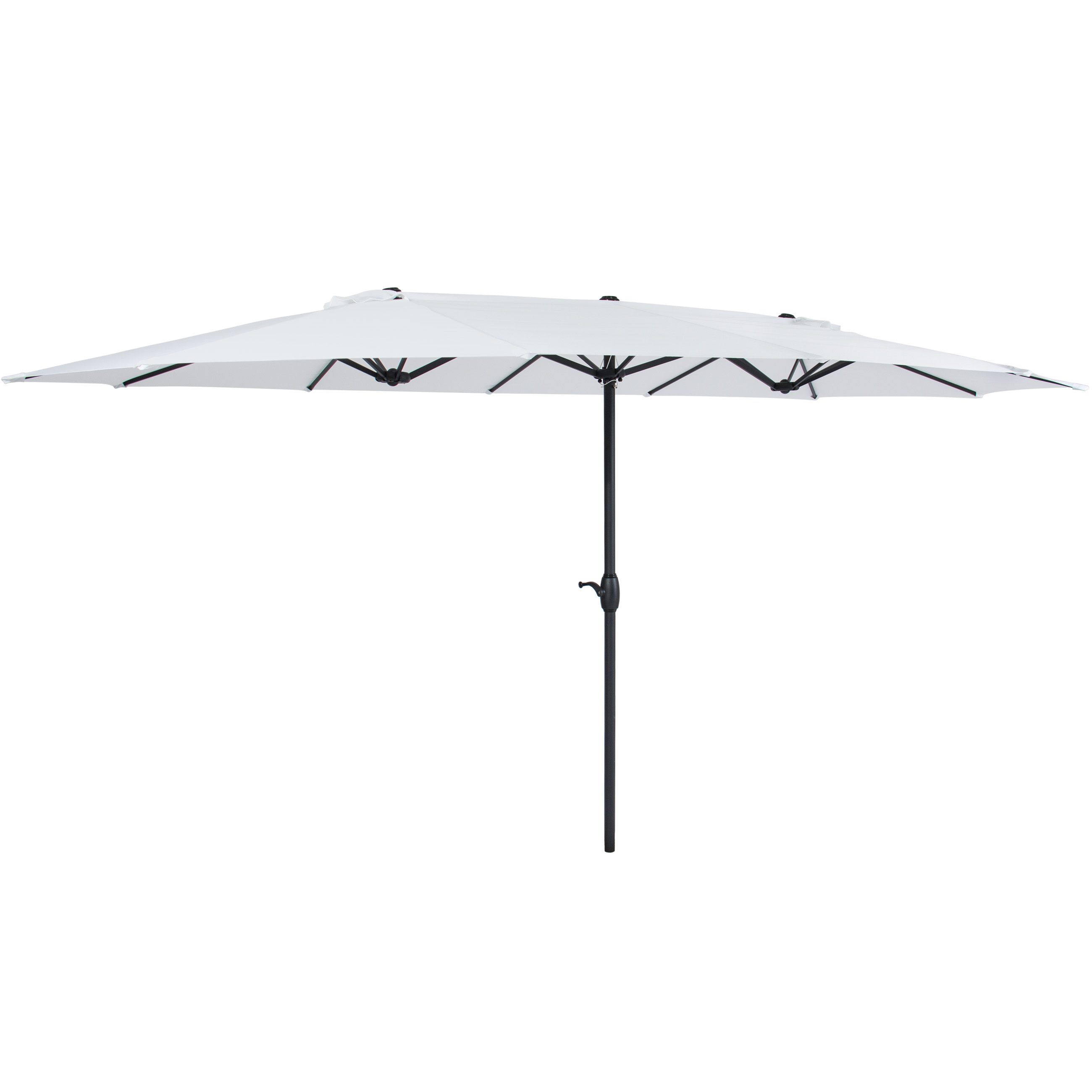 Product Image Best Choice Products 15x9ft Large Rectangular Outdoor  Aluminum Twin Patio Market Umbrella W/ Crank,