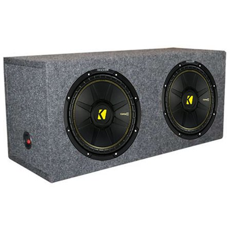 "2) New Kicker 44CWCS124 12"" 1200W Car Subwoofers + Dual Sealed Sub Box Enclosure"
