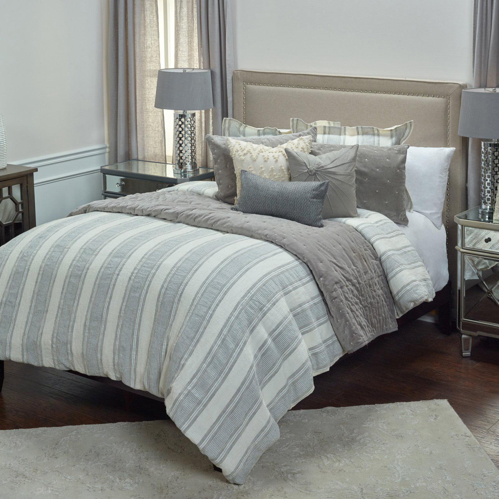 Rizzy Home Prescott Preserve Ivory Linen Duvet Bedding Cover Square (98x98)