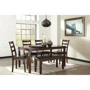 Kitchen Table With Benches Kitchen tables with benches signature design by ashley coviar 6 piece dining table set workwithnaturefo