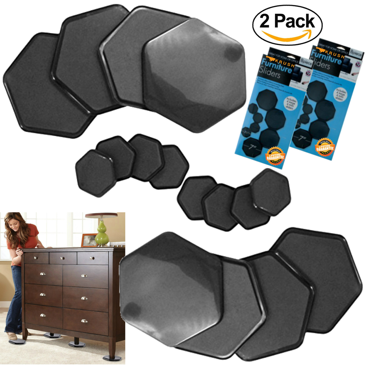 Furniture Pads And Sliders For Moving 16 Pc Furniture Feet