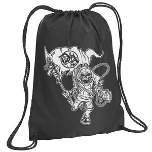 Dr. Acula Nation Drawstring Backpack Black